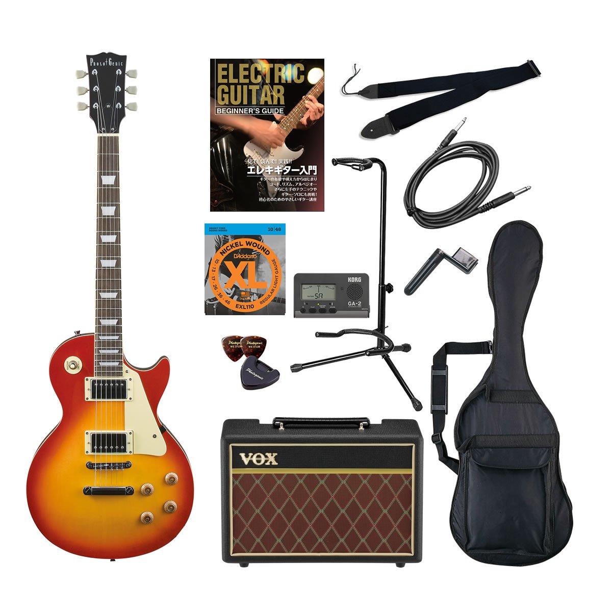 PhotoGenic エレキギター Amazonオリジナル12点 Pathfinder10セット レスポールタイプ LP-260/CS チェリーサンバースト B00CSHPA4E チェリーサンバースト チェリーサンバースト