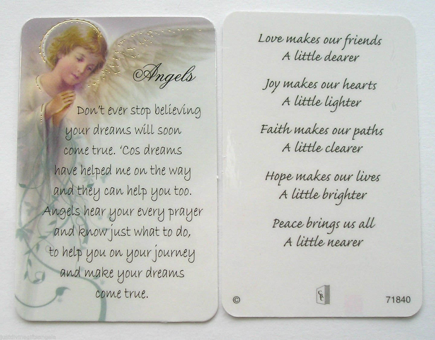 TO MY GIRLFRIEND WITH LOVE PURSE WALLET KEEPSAKE VERSE PRAYER CARD OTHERS LISTED