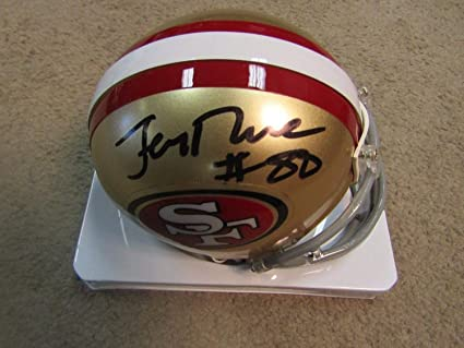 459307e6e Image Unavailable. Image not available for. Color  Jerry Rice Autographed  Signed San Francisco 49ers Mini Helmet ...