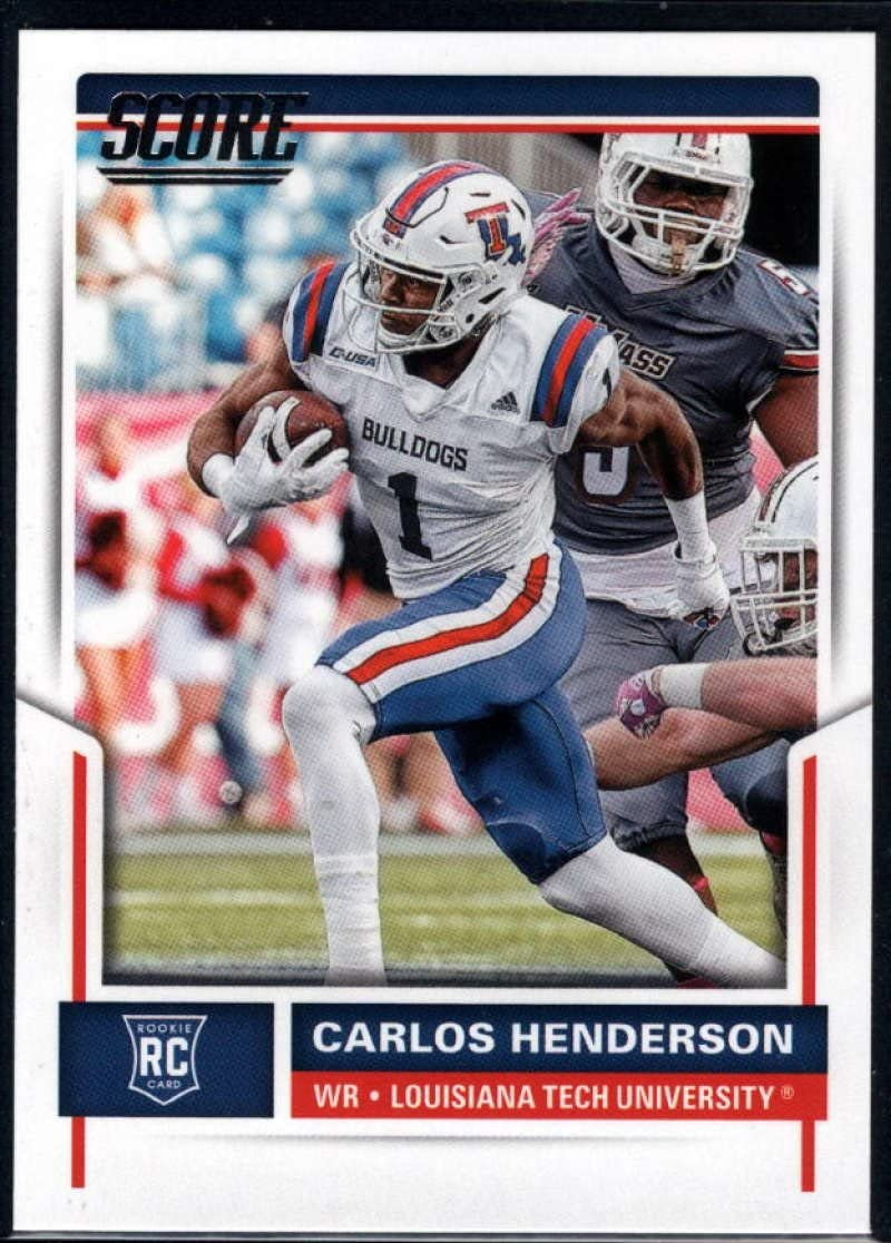 Amazon Com 2017 Score Rookies 414 Carlos Henderson Rc Rookie Louisiana Tech Bulldogs Football Nm Mt Collectibles Fine Art