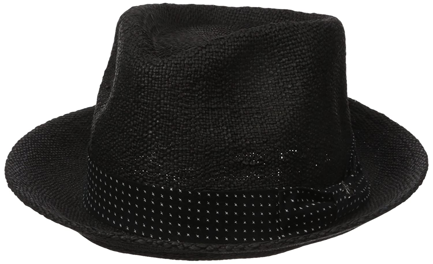 Original Penguin Men's Wide Brim Straw Fedora PNH0630