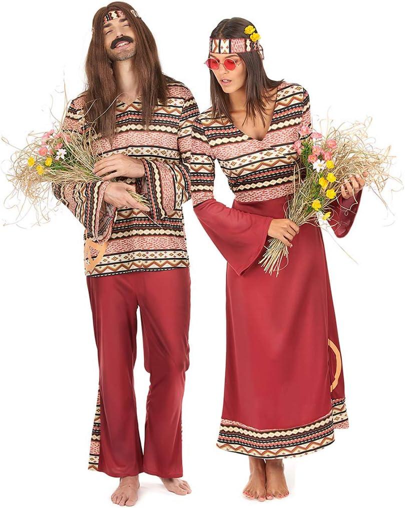 Generique - Disfraz de Pareja Hippie Burdeos Adulto Única: Amazon ...