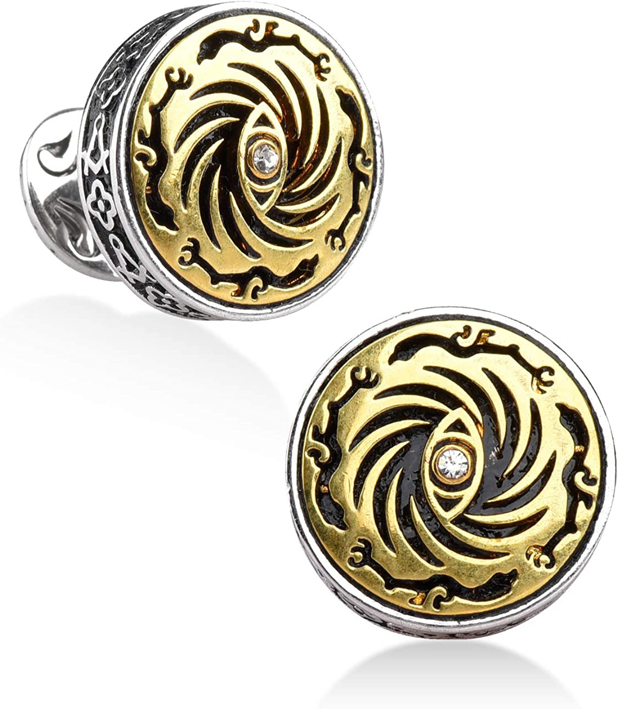 Clubs Playing Card Suit Cufflinks Solid Bronze