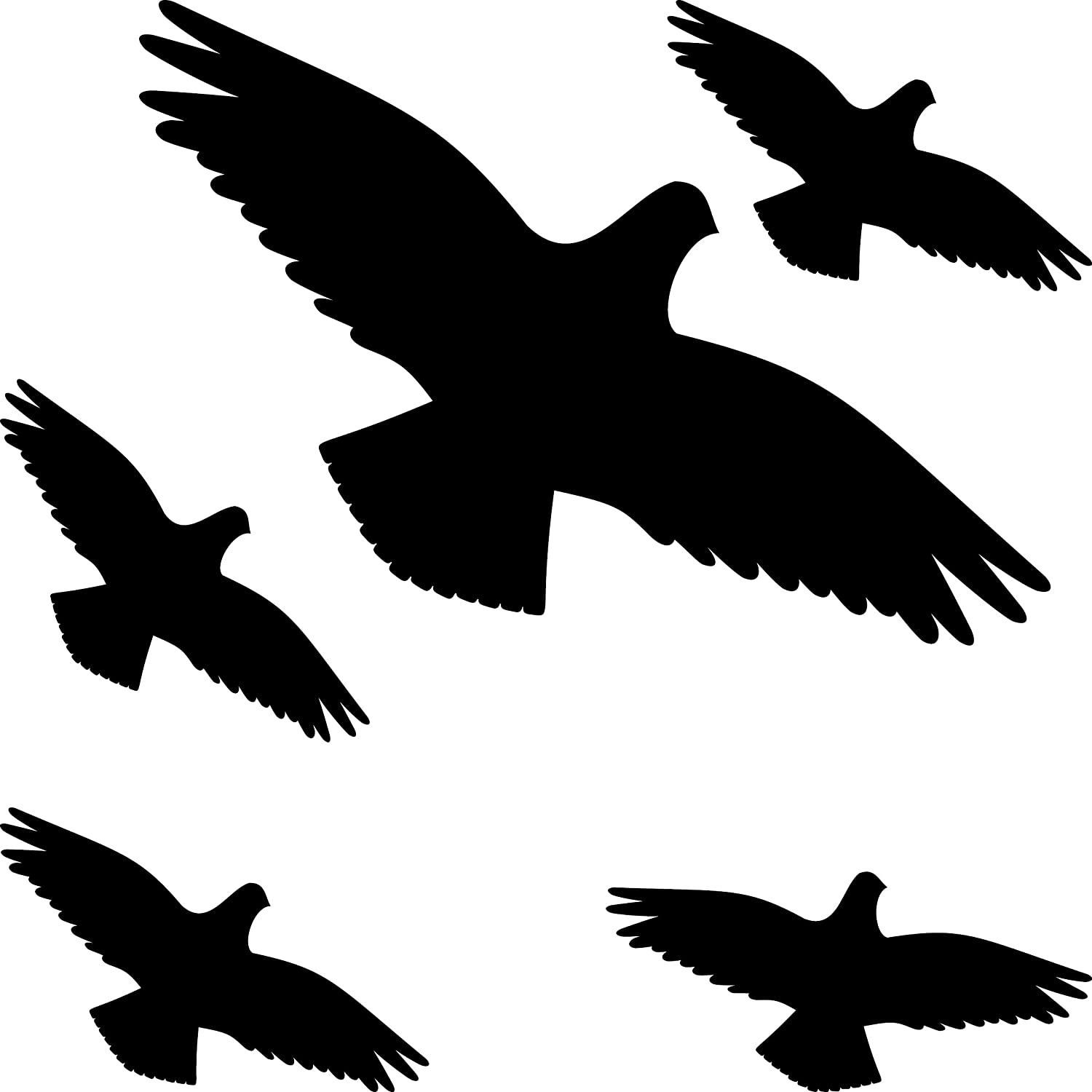 photograph about Printable Hawk Silhouette for Window named GreenIT Caution Fowl Mounted Chook Chicken Inform Birds Silhouette