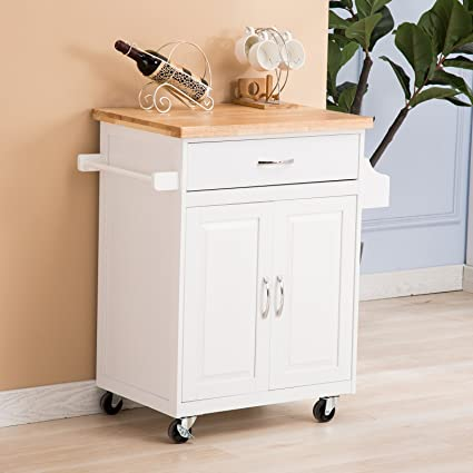 Mecor Kitchen Rolling Island Cart/Trolley/Dining Storage Cabinet/Sideboard  On Wheels,