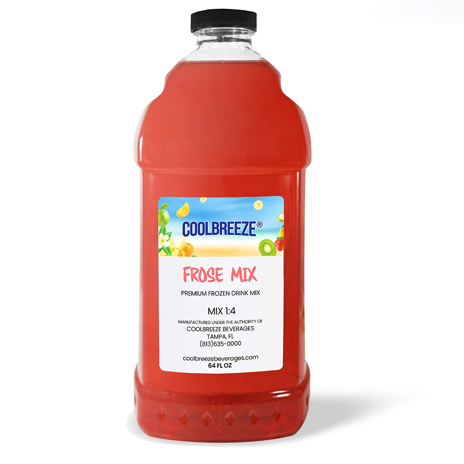 Coolbreeze Beverages Shelf Stable Frozen Drink Mix - Beverage Machine/Blender - Ready To Use (Frozen Rosé) Granita Slush Bar Mixers Frose - 1/2 Gal - (Frosé)