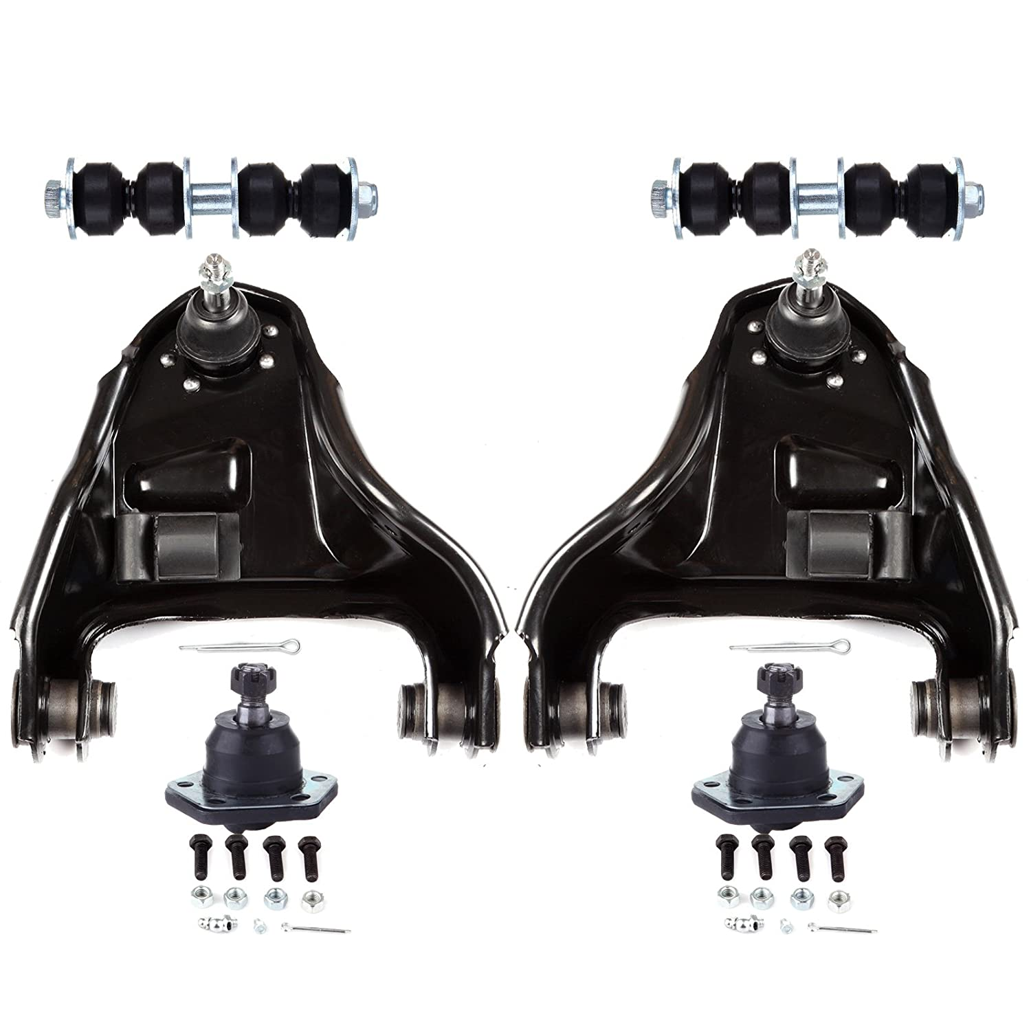 ECCPP Control Arm Ball Joint Sway Bar Link Suspension Kit for 1997-2003 GMC Sonoma 4WD (6Pcs) 801682-5211-1745211