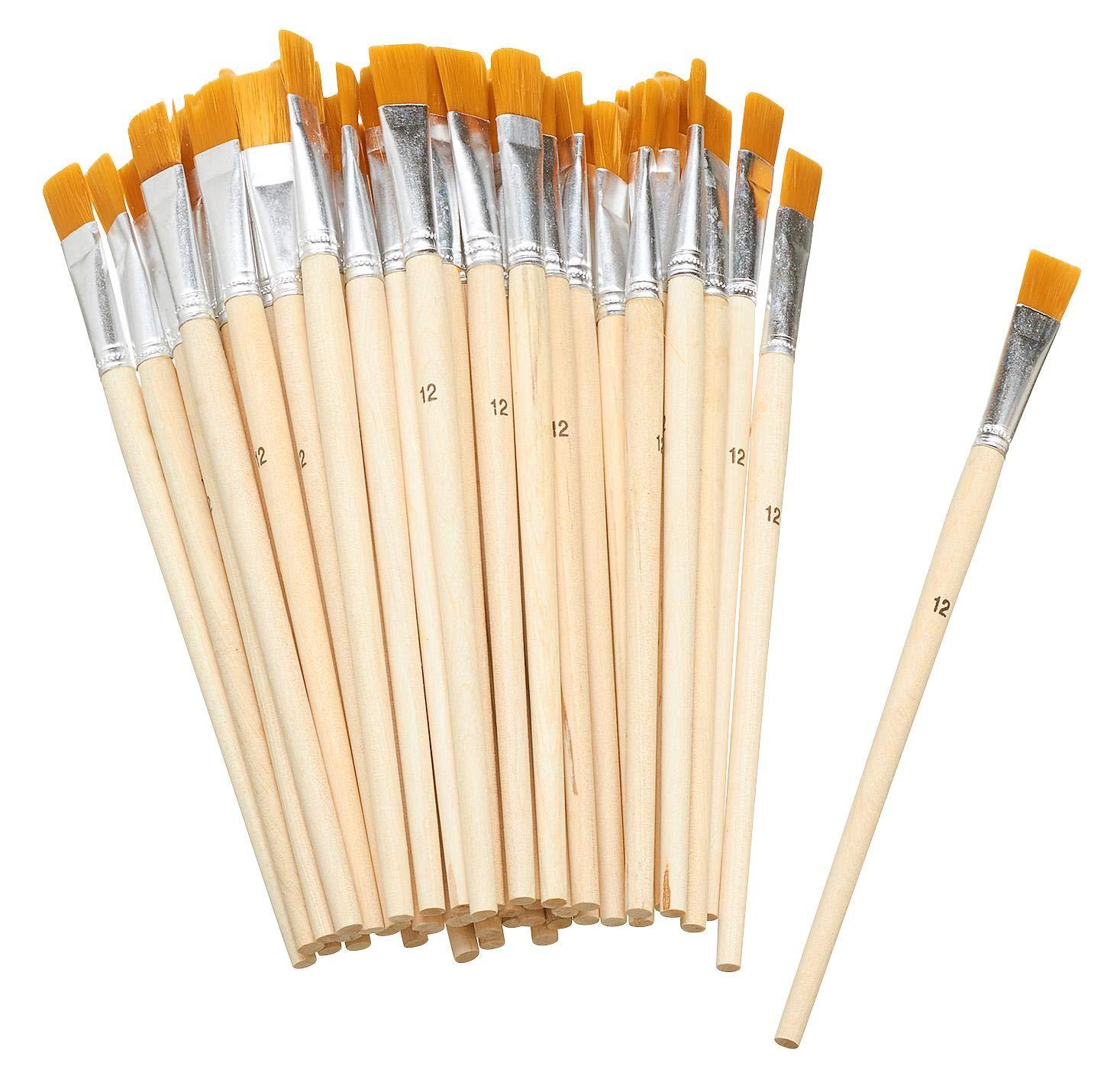 VBS Gro/ßhandelspackung 50 Flachpinsel Acrylpinsel malen Synthetikhaar Gr/ö/ße 10