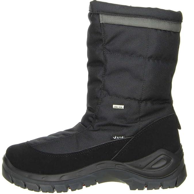 Vista Mens 11-09709 Tuono Schwarz Snow Boots Black Size: 10: Amazon.co.uk:  Shoes & Bags