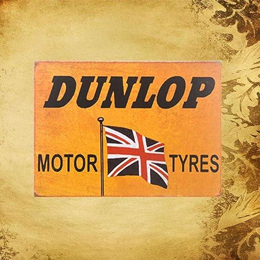 MiMiTee Fashion Dunlop Cartel de Pared de Chapa Carteles de ...