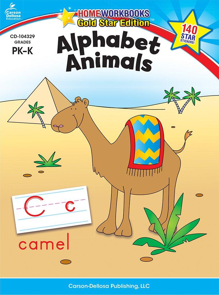 Download Alphabet Animals, Grades PK - K: Gold Star Edition (Home Workbooks) pdf epub