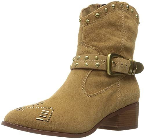 BCBGeneration Womens lokki Suede Pointed Toe Ankle Cowboy Boots Wheat Size 80