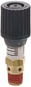 "Control Devices CR Series Brass Pressure Relief Valve, 0-100 psi Adjustable Pressure Range, 1/4"" Male NPT"