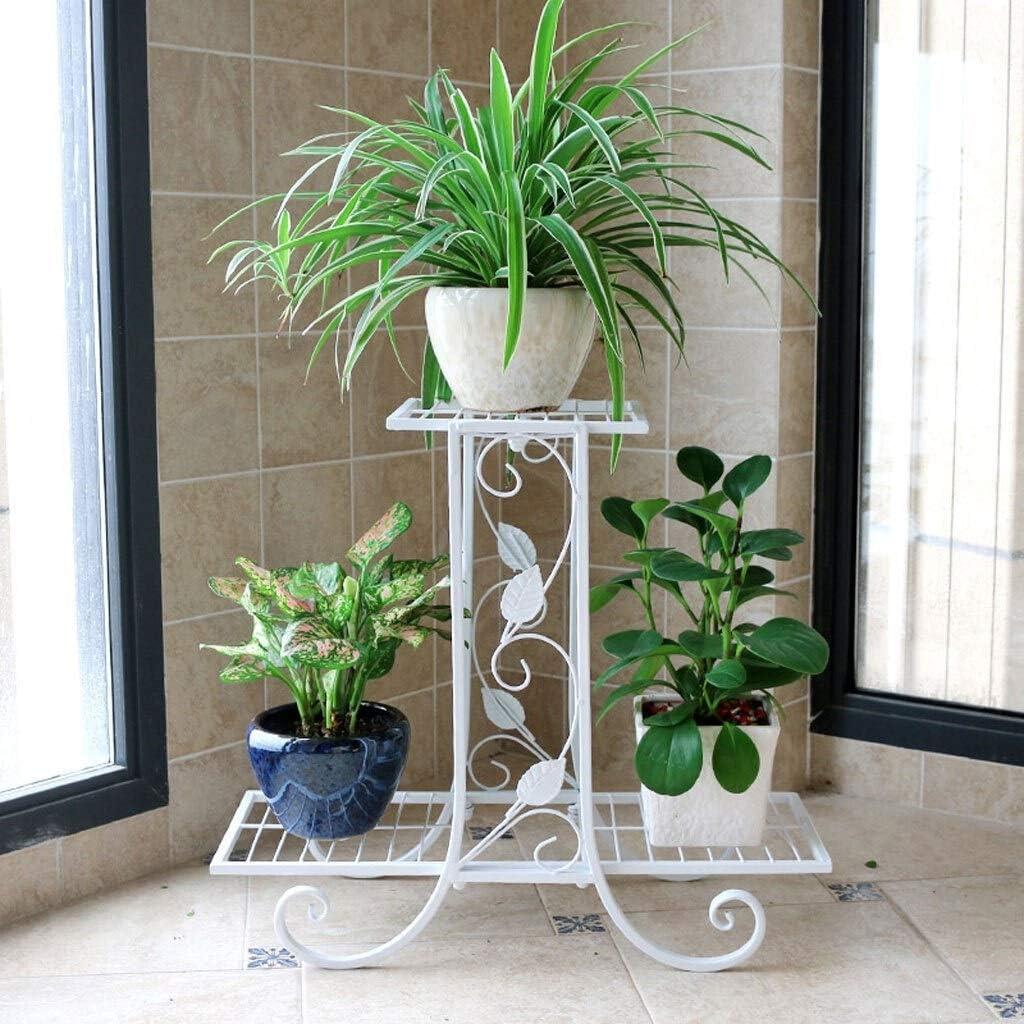 LRW Tieyi White Flower Rack Boden Balkon Innen- und Außenbereich Hall Space Design Zierpflanze Rack