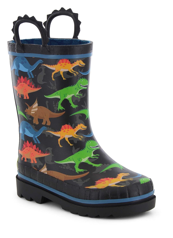Western Chief Kids Girls Waterproof Easy-On Printed Rain Boot