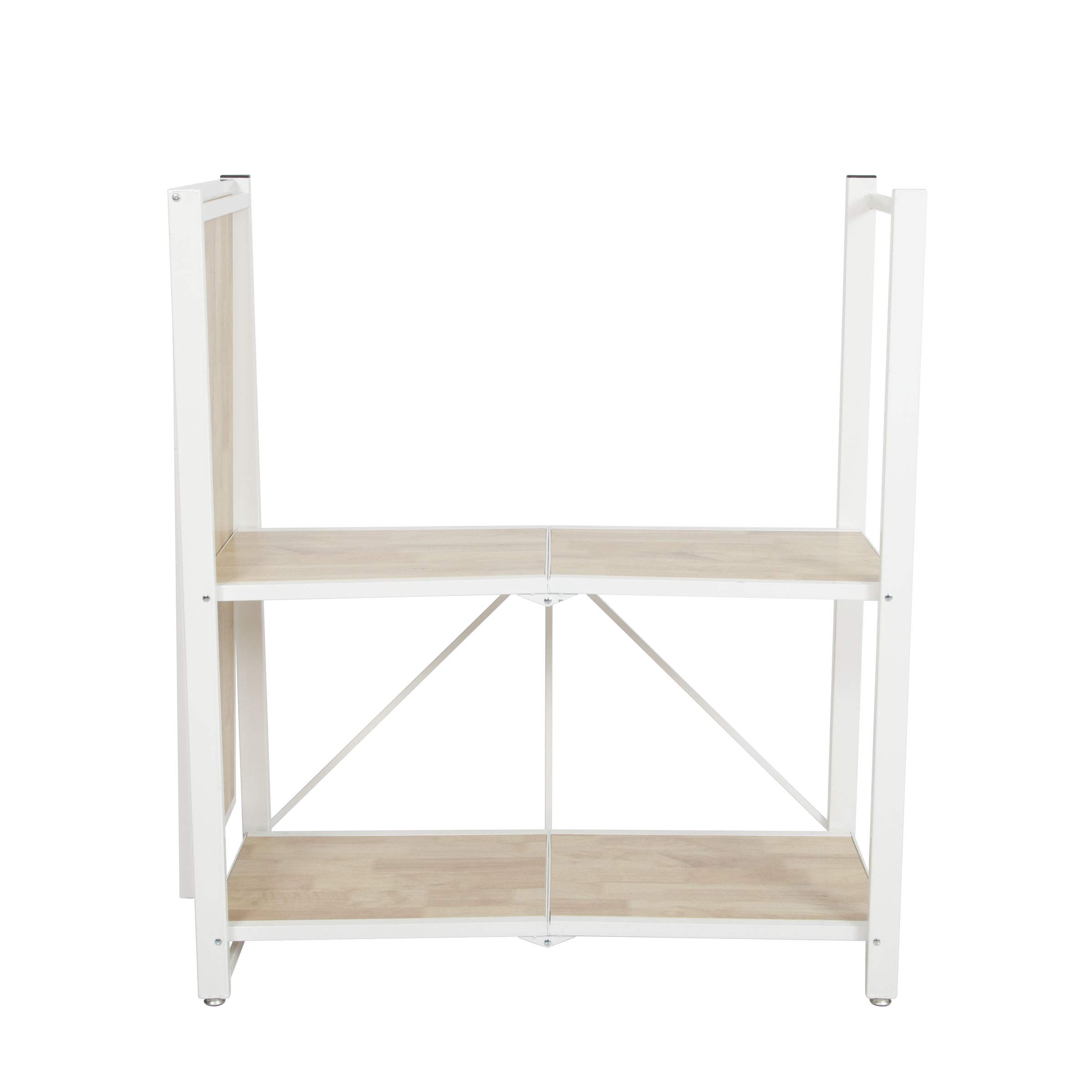 Origami Folding 4-Tier Heavy Duty Steel Baker's Rack with Wood Shelf, White by Origami (Image #7)