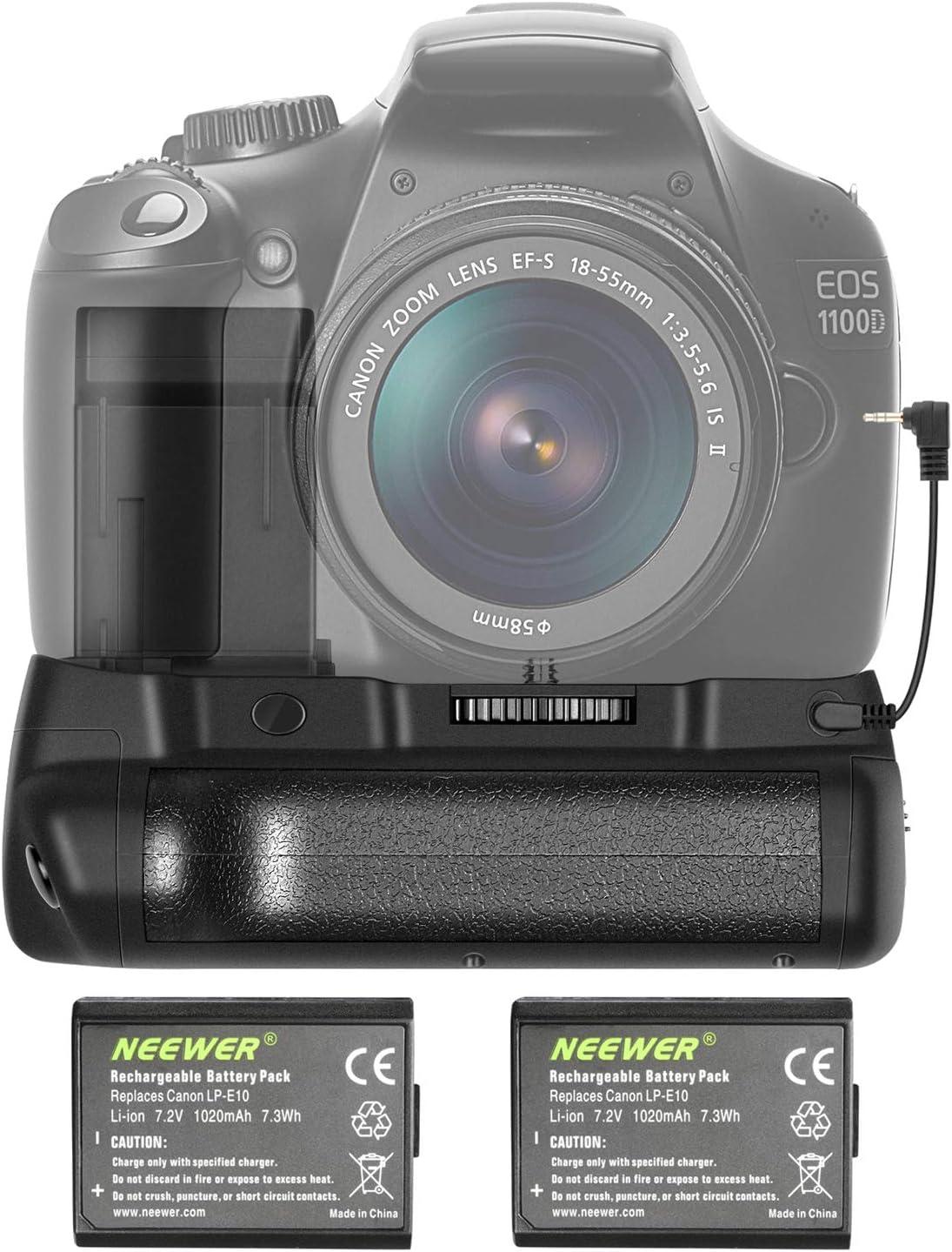 Grip + 2 baterías Canon EOS 1100D 1200 1300D Rebel T3 T5 T6