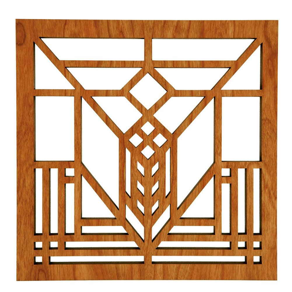 Frank Lloyd Wright Lake Geneva Hardwood Trivet by Lightwave