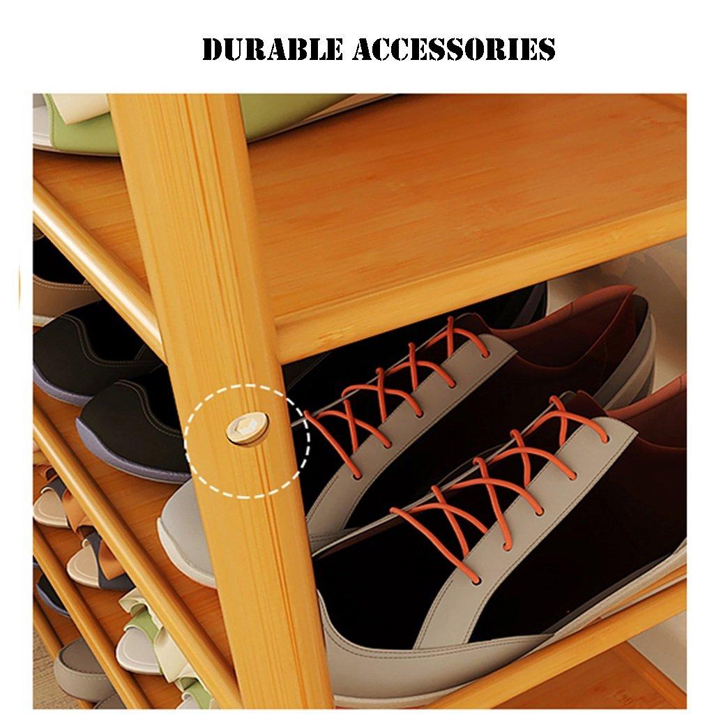LZ-SNAIL small Shoe Rack Organizer Bamboo 3 Tier Lightweight Storage Shelf Holder Door Entrance Corner Entryway Shoe Organiser Shelf (Size : Length 80cm) by LZ-SNAIL (Image #2)