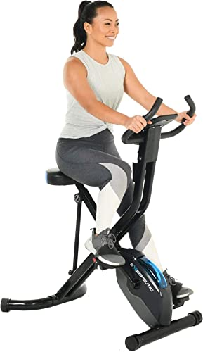 Exerpeutic 575 XLS Bluetooth Smart Technology Folding Upright Exercise Bike