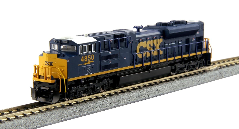 Kato USA Model Train Products N EMD #4850 SD70ACe CSX Train Kato Trains 176-8437