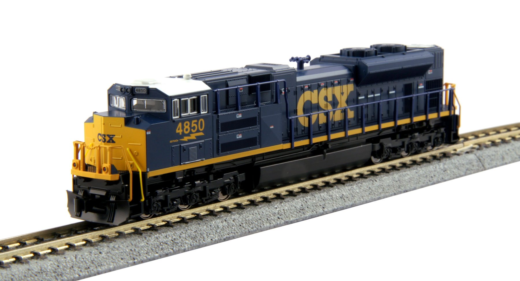 Kato USA Model Train Products N EMD #4850 SD70ACe CSX Train by Kato USA Model Train Products