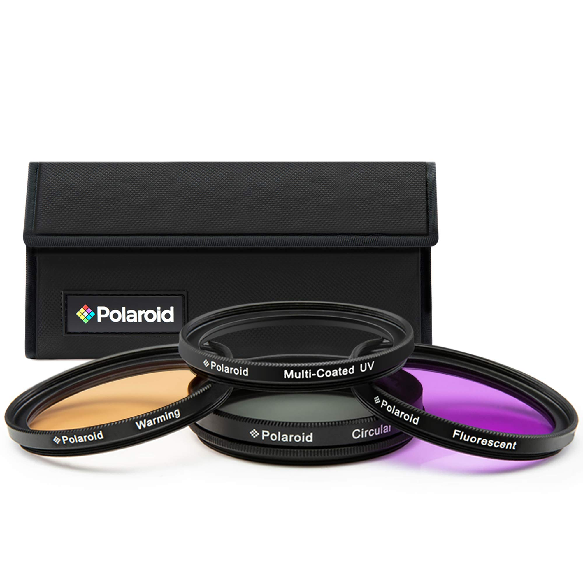 Polaroid Optics 82mm Multi-Coated Circular Polarizer Filter Compatible w// All Popular Camera Lens Models CPL For /'On Location/' Color Saturation Contrast /& Reflection Control