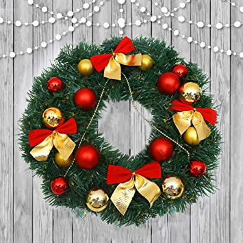 Amazon Com Sunwod 11 8 Inch Artificial Christmas Wreath Garland