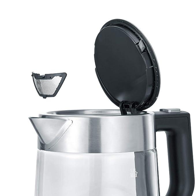 2.200 W aprox. 1,0 L SEVERIN Hervidor de Agua Acero Inoxidable//Negro WK 3496