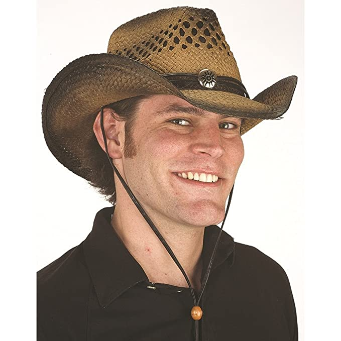 Amazon.com  Jacobson Hat Company Cowboy Straw Vented Wild West ... 74ec0129469