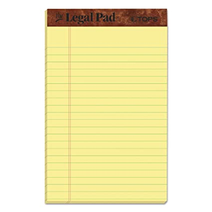 amazon com tops the legal pad writing pads 5 x 8 jr legal