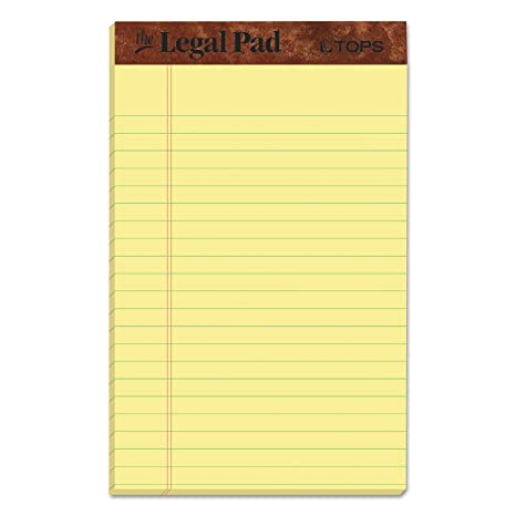 TOPS The Legal Pad Writing Pads, 5