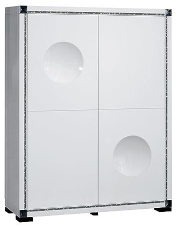 Mobile Bar Design A 4 Porte Colori Bianco Laccato Con Strass Amazon