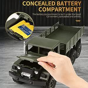 RC Coche Vehículo motorizado Remoto de la aplicación Camiones controlados Camiones de Juguete Control Remoto Juguetes para Camiones Todo Terreno 2.4G Control Remoto 4WD Militares Todo Terreno: Amazon.es: Hogar