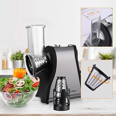 aceshin Máquina para hacer Ensalada Cortador de Verduras Eléctrico con 4 hojas de Cono para Frutas, Verduras y Quesos: Amazon.es: Ropa y accesorios