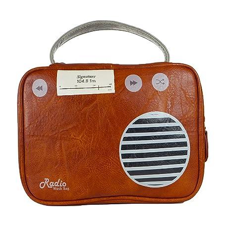 Buy Adults Portland Retro Radio Design Wash Bag Cosemetic Toiletries ...
