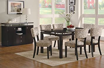 Captivating Coaster Furniture Libby Collection Cappuccino 7 Piece Dining Set(Table, 6  Side Chair)
