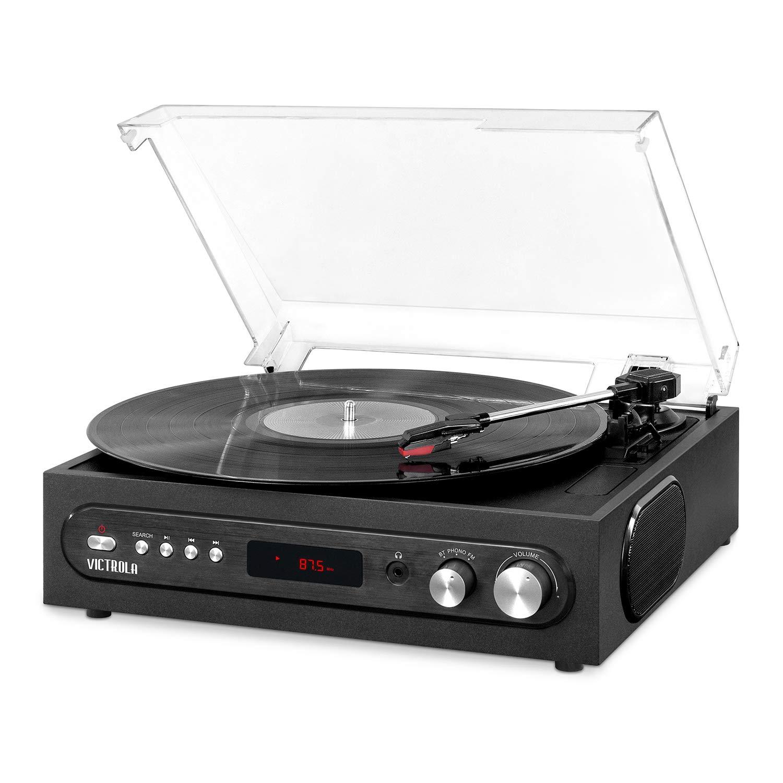最安価格 内蔵スピーカーと3スピードターンテーブルブラック(VTA-65-BLK)を搭載したVictrola B07G1XW9MP All-in-1 All-in-1 Bluetoothレコードプレーヤー B07G1XW9MP, 業務用メラミン食器の通販KYOEI:81414243 --- 4x4.lt