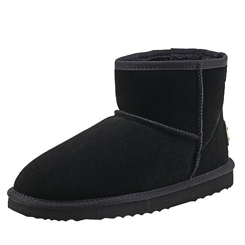 Shenduo Zapatos Invierno - Botas de Nieve de Piel Impermeable Antideslizante para Hombre D5645: Amazon.es: Zapatos y complementos