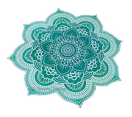 Smile YKK Cojín de Playa Estampado Forma de Flor Verde ...