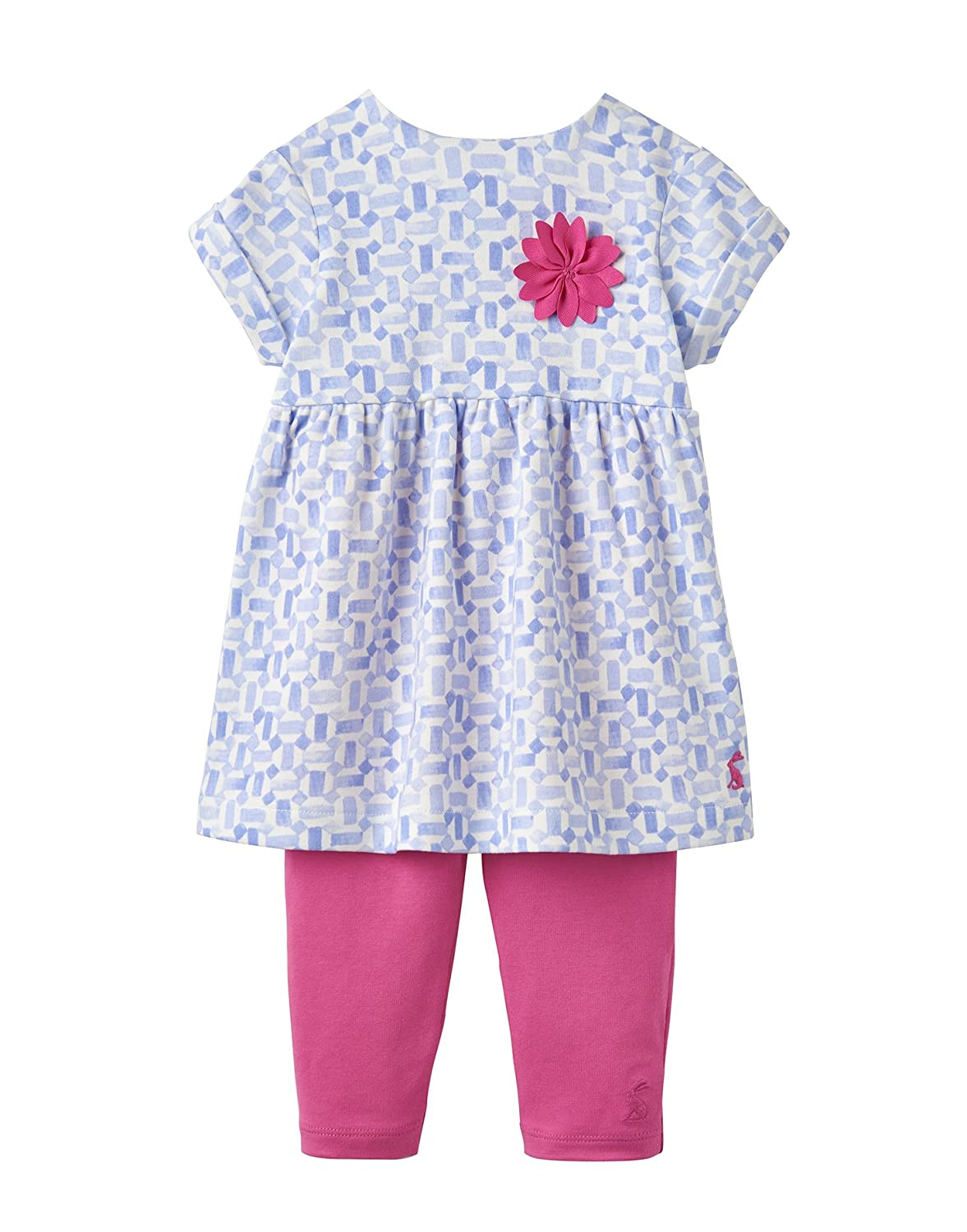 cedc21b07 Amazon.com: Joules Baby Dress and Leggings Set - Sky Blue Tile: Clothing