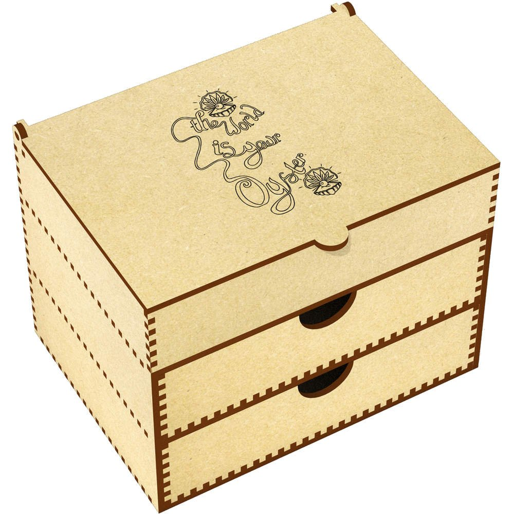 Azeeda 'The World is Your Oyster' Vanity Case / Makeup Box (VC00005559)