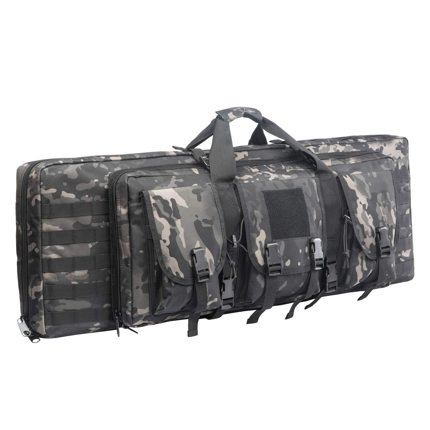 WolfWarriorX Double Long Rifle Gun Case Bag Tactical Carbine Cases Water Dust Resistant Firearm Shotgun Bag Outdoor MOLLE Hunting Shooting Storage Transport, Available in 38'' 42''  (BM, 38inch) by WolfWarriorX