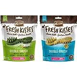 Merrick Small Dog Grain Free Dental Health Bones 2 Flavor Variety Bundle, 1 each: Fresh Kisses Coconut Oil and Fresh Kisses Mint (9 Count)