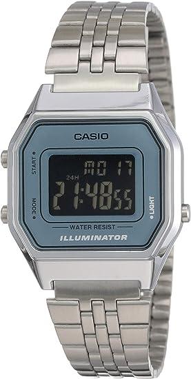 Ladies La680wa Casio Mid Retro Watch Size Silver 2bdf Digital 1J3TlFKc