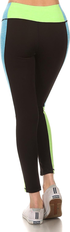 ICONOFLASH Womens Full Length Color Block Legging
