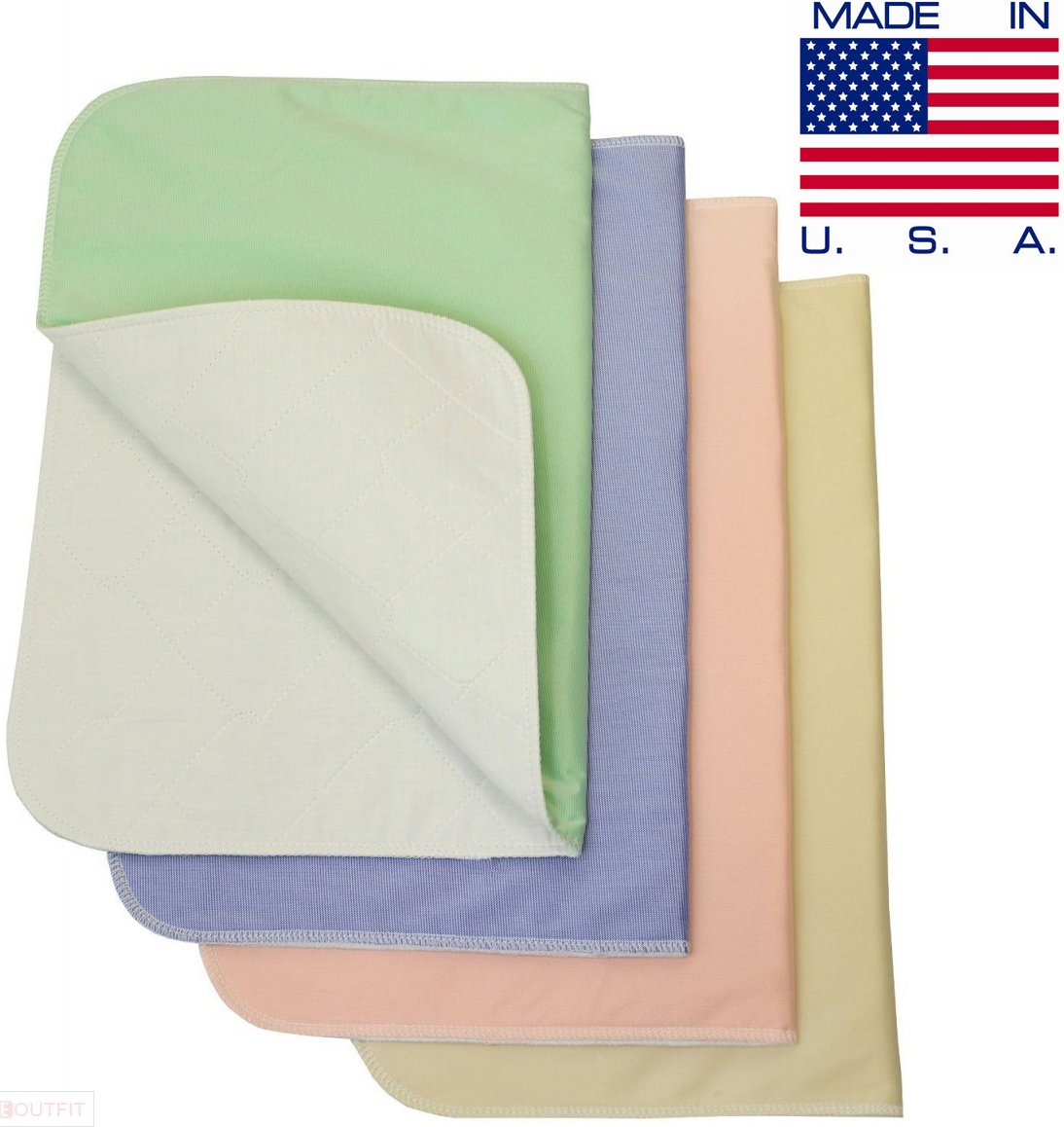 Washable Bed Pads Chair Pads/Incontinence Small Underpad - 18x24-4 Pack