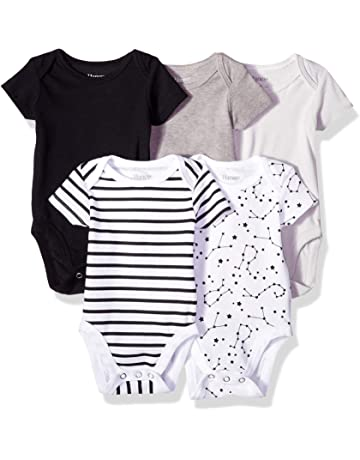 a993a676fe146 Hanes Ultimate Baby Flexy 5 Pack Short Sleeve Bodysuits