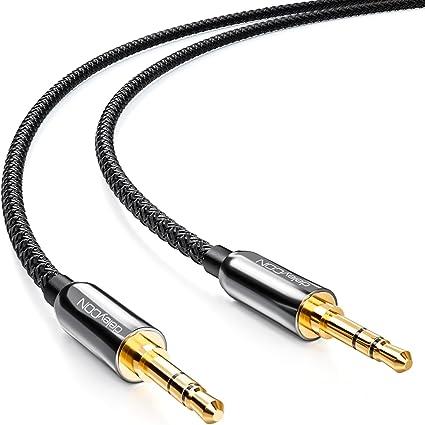 deleyCON 0,5m Cable Jack con Funda de Nylon: Amazon.es: Electrónica