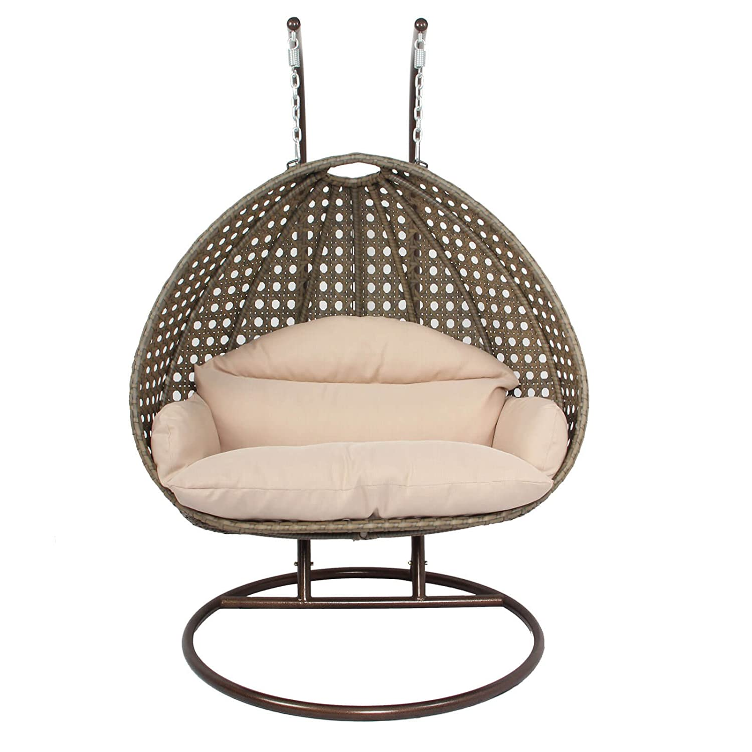 Amazon Luxury 2 Person Hanging Egg Chair by Island Gale